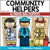 Community Helpers Activities | Paper Bag Puppets