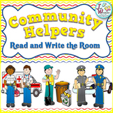 Labor Day - Write the Room, a COMMUNITY HELPERS unit supplement