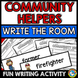 COMMUNITY HELPERS WRITE THE ROOM (KINDERGARTEN VOCABULARY ACTIVITY)