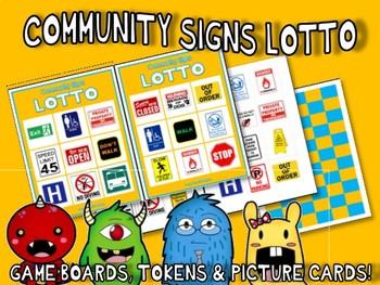 COMMUNITY SIGNS MATCH & SORT ACTIVITY w PECS autism speech therapy pdf