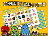 COMMUNITY SAFETY SIGNS MATCH SORT LOTTO PECS PICTURE CARDS autism speech therapy