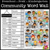 COMMUNITY WORD WALL - LETTER RING CARDS - BULLETIN BOARD