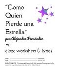 COMO QUIEN PIERDE UNA ESTRELLA A. Fernández Worksheet Mexi