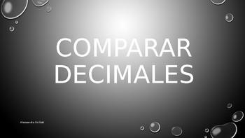 COMPARAR DECIMALES