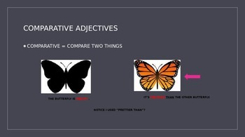 COMPARATIVE AND SUPERLATIVE ADJECTIVE POWER POINT ACTIVITY