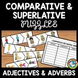 COMPARATIVE AND SUPERLATIVE ADJECTIVES AND ADVERBS GAME PUZZLES ACTIVITY