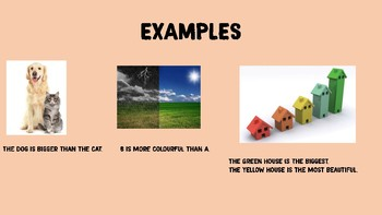 COMPARATIVES AND SUPERLATIVES EXPLANATION