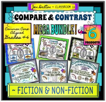 COMPARING MYTHS & HIGH INTEREST NON-FICTION: COMPARE AND CONTRAST MEGA BUNDLE!