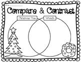 COMPARE AND CONTRAST CHRISTMAS TREE VS. WREATH VENN DIAGRAM