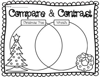 wreath venn diagram compare and contrast christmas tree vs  wreath venn  diagram