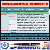 COMPARE AND CONTRAST INFORMATION TEXT HANDOUTS