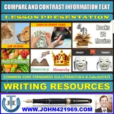 COMPARE AND CONTRAST INFORMATION TEXT LESSON PRESENTATION