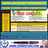 COMPARE AND CONTRAST INFORMATION TEXT TASK CARDS