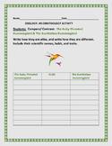 COMPARE & CONTRAST: HUMMINGBIRDS:ORNITHOLOGY ACTIVITY