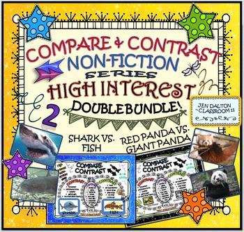 COMPARE and CONTRAST: High Interest Non Fiction~ DOUBLE BUNDLE