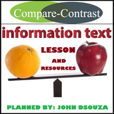 COMPARE AND CONTRAST INFORMATION TEXT LESSON AND RESOURCES