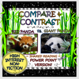 COMPARE & CONTRAST: RED PANDA VS. GIANT PANDA (POWER POINT EDITION)