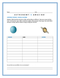 COMPARE/CONTRAST: TWO PLANETS: URANUS & SATURN/ AN ASTRONOMY ACTIVITY