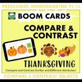COMPARE & CONTRAST Thanksgiving BOOM CARDS™