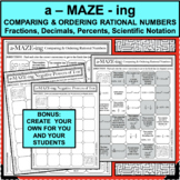 COMPARE ORDER RATIONAL NUMBERS A-MAZE-ING Super Fun Activity!