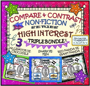 COMPARE and CONTRAST: High Interest Non Fiction~ TRIPLE BUNDLE!