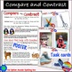 COMPARE and CONTRAST Task Cards and Poster COMPREHENSION SKILLS for ELA centres