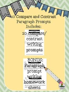 COMPARE CONTRAST Paragraph Writing Prompts