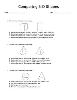 COMPARING 3-D SHAPES
