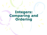 COMPARING AND ORDERING INTEGERS TASK WITH ABSOLUTE VALUE AND A NUMBER LINE