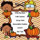 COMPARING DECIMALS:  Autumn-themed Task Cards with Place Value Charts