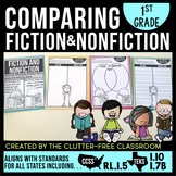 COMPARING FICTION and NONFICTION 1st Grade RL1.5 (CCSS RL 1.5 & TEKS 1.10 and 1.