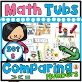 COMPARING NUMBERS TO 10 Year of Morning Math Tubs or Centers Set 8!
