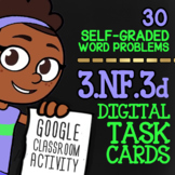 3.NF.3 Comparing & Ordering Fractions Task Cards ★ Self-Graded Google Classroom