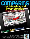 COMPARING Vertebrates and Invertebrates: DIGITAL Google Drive Activity