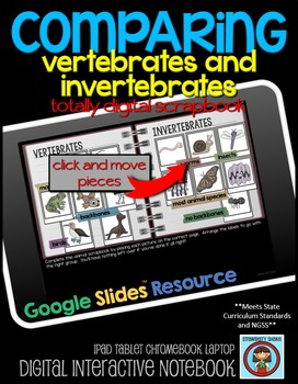 COMPARING Vertebrates and Invertebrates: DIGITAL Google Drive Activity