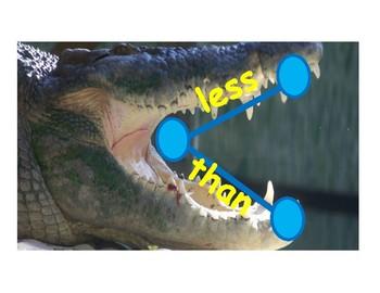 COMPARISON MATH   alligator posters