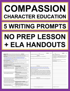 COMPASSION Activities: 5 Writing Prompts