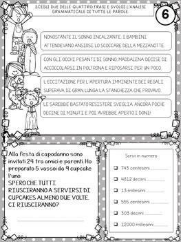 COMPITI DELLE VACANZE DI NATALE - quarta