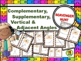 COMPLEMENTARY, SUPPLEMENTARY, & VERTICAL ANGLES Scavenger Hunt Task Cards