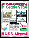 COMPLETE YEAR 1st grade NGSS Earth, Life & Physical STEM UNIT 100+ Resources!
