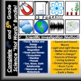 COMPLETE 4th and 5th Grade Science Vocabulary Bundle!