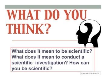 COMPLETE 60 minute Lesson Plan: Scientific Inquiry Vocabulary