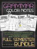 COMPLETE BUNDLE! Grammar doodle notes: FULL SEMESTER