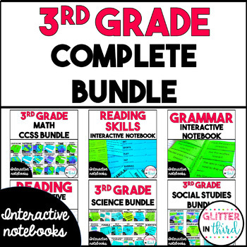 COMPLETE BUNDLE Third-Grade Interactive Notebook for All Subjects