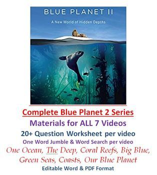 complete blue planet ii video series worksheet wordsearch jumble blue planet 2. Black Bedroom Furniture Sets. Home Design Ideas