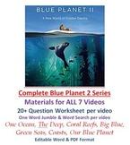 COMPLETE Blue Planet II Video Series Worksheet Wordsearch