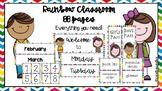 Classroom Labels- Rainbow Chevron