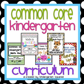 COMPLETE Common Core Kindergarten Math Curriculum!