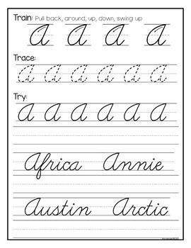 COMPLETE Cursive Writing Pack {Using the Train-Trace-Try Method!}