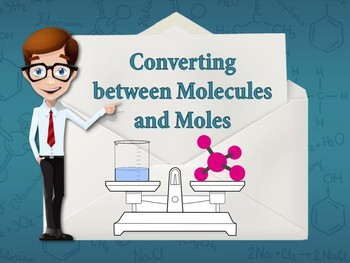 COMPLETE DONE-FOR-YOU CHEMISTRY LESSON: Converting between Molecules and Moles